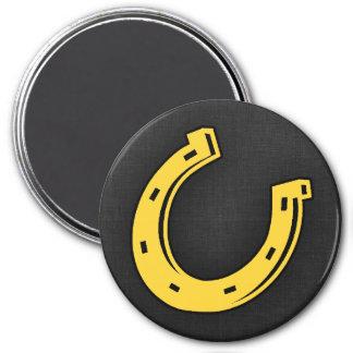 Yellow Amber Horseshoe Fridge Magnet