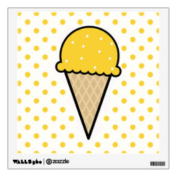 Yellow Amber Ice Cream Cone Wall Decal