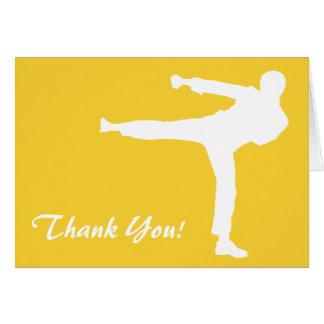 Yellow Amber Martial Arts Card