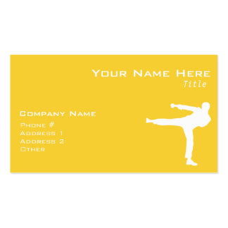Yellow Amber Martial Arts Double-Sided Standard Business Cards (Pack Of 100)