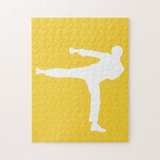 Yellow Amber Martial Arts Jigsaw Puzzles