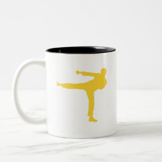Yellow Amber Martial Arts Two-Tone Coffee Mug