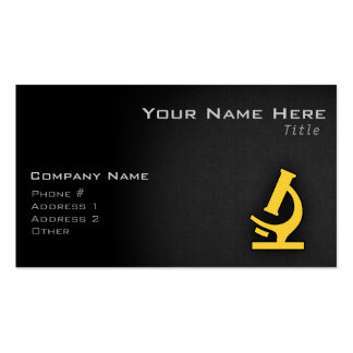 Yellow Amber Microscope Business Card Template