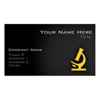 Yellow Amber Microscope Business Card