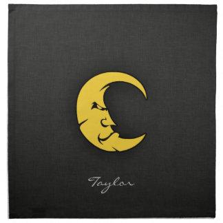 Yellow Amber Moon Cloth Napkin