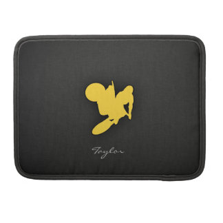 Yellow Amber Motocross Sleeves For MacBook Pro