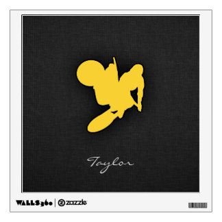Yellow Amber Motocross Wall Decal