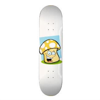 Yellow Amber Mushroom Skate Board Decks