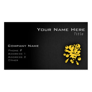 Yellow Amber Paintball Business Card Templates