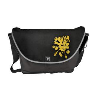 Yellow Amber Paintball Courier Bag