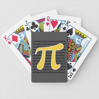 Yellow Amber Pi Symbol Bicycle Playing Cards