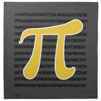 Yellow Amber Pi Symbol Cloth Napkin