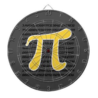 Yellow Amber Pi Symbol Dart Boards