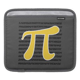 Yellow Amber Pi Symbol iPad Sleeve