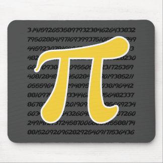 Yellow Amber Pi Symbol Mouse Pad