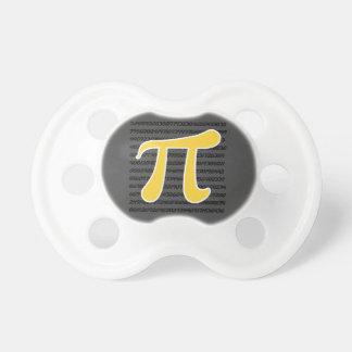 Yellow Amber Pi Symbol Pacifier