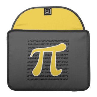 Yellow Amber Pi Symbol Sleeve For MacBooks