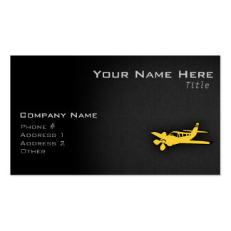 Yellow Amber Plane Double-Sided Standard Business Cards (Pack Of 100)