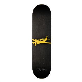 Yellow Amber Plane Skate Deck