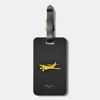 Yellow Amber Plane Tag For Luggage