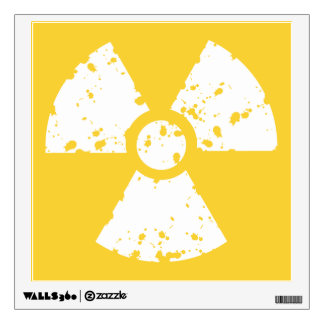 Yellow Amber Radioactive Symbol Wall Decal
