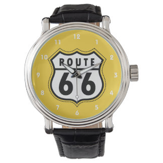 Yellow Amber Route 66 road sign Watch