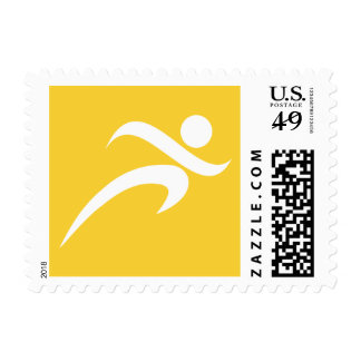 Yellow Amber Running Postage Stamps