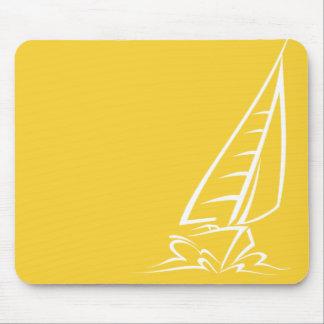 Yellow Amber Sailing Mouse Pad