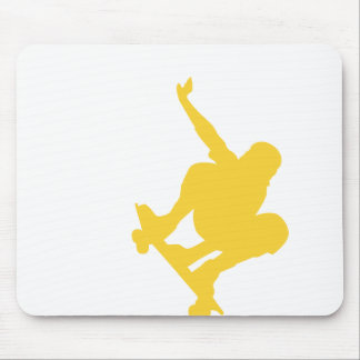 Yellow Amber Skater Mouse Pad