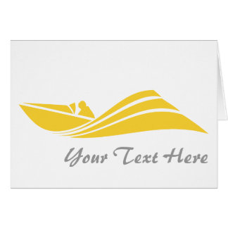Yellow Amber Speed Boat Card