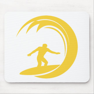 Yellow Amber Surfing Mouse Pad