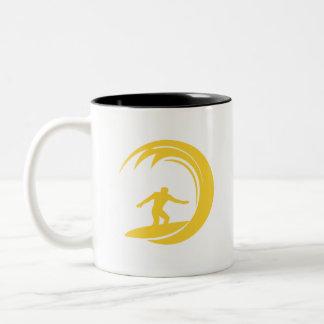 Yellow Amber Surfing Coffee Mug