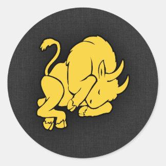 Yellow Amber Taurus Classic Round Sticker