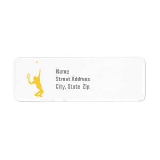 Yellow Amber Tennis Label