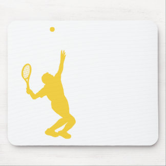 Yellow Amber Tennis Mouse Pad