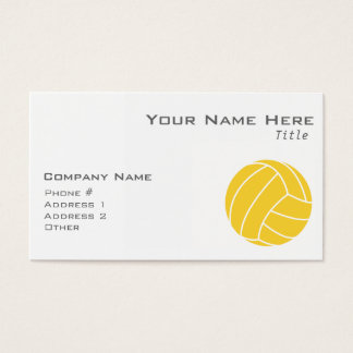 Yellow Amber Volleyball Business Card