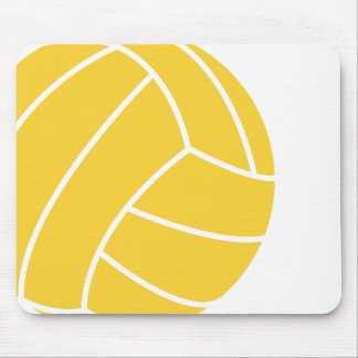 Yellow Amber Volleyball Mouse Pad