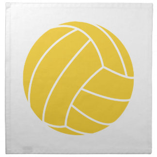 Yellow Amber Volleyball Napkin