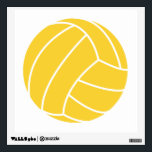 """Yellow Amber Volleyball Wall Sticker<br><div class=""""desc"""">Cute,  cool  Yellow Amber   volleyball design.  Great sports gift for indoor or beach volleyball players. Images used on this item are licensed and &#169; Graphics Factory.com</div>"""