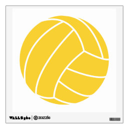 Yellow Amber Volleyball Wall Sticker