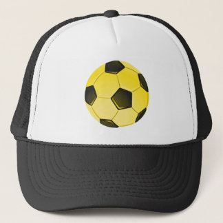 Yellow American Soccer Ball or Football Trucker Hat