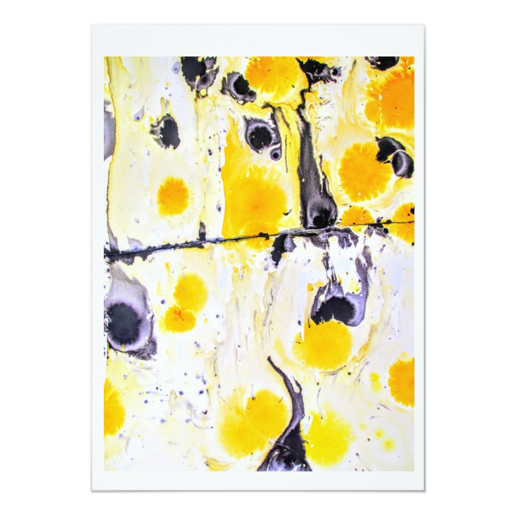Yellow an black Artistic Invitation Card