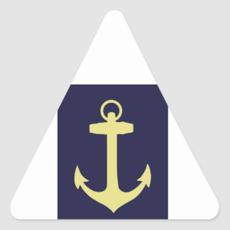 Yellow Anchor - Navy Blue Triangle Sticker