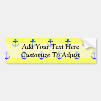 Yellow anchor pattern bumper sticker