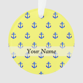 Yellow anchor pattern ornament