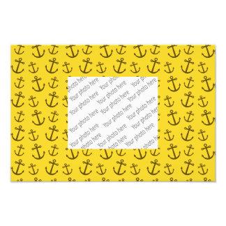 Yellow anchor pattern photo