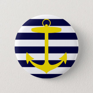 Yellow Anchor Silhouette Pinback Button