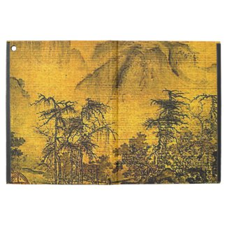 Yellow Ancient Chinese Landscape iPad Pro Case