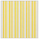 [ Thumbnail: Yellow and Beige Colored Pattern of Stripes Fabric ]