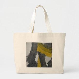 Yellow And Black Abstract 2 Tote Bag